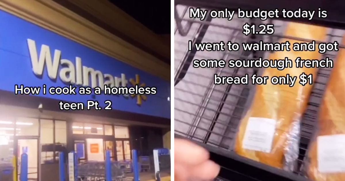 Homeless Teen Living In A Car Shows How He Makes His Meals Goes Viral With 20M Views