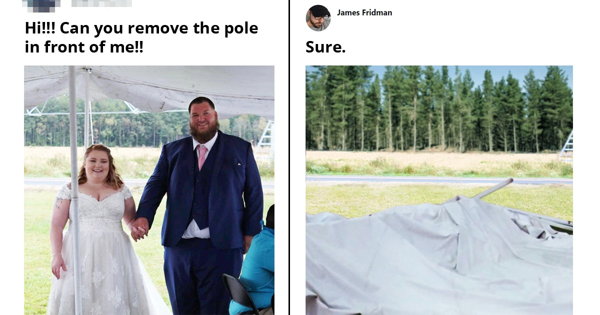 19 Hilarious Times Photoshop Troll James Fridman Took Photo Edit Requests Too Literally