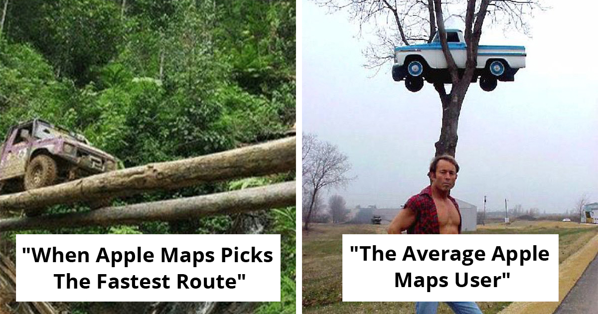 25 People Roast How Apple Maps Are Bringing Them To Roads That Don't Exist