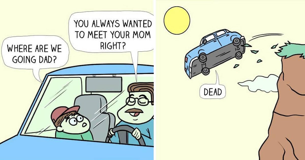 Artist's 30 Hilariously Crazy Comics For People Who Loves Dark Humor