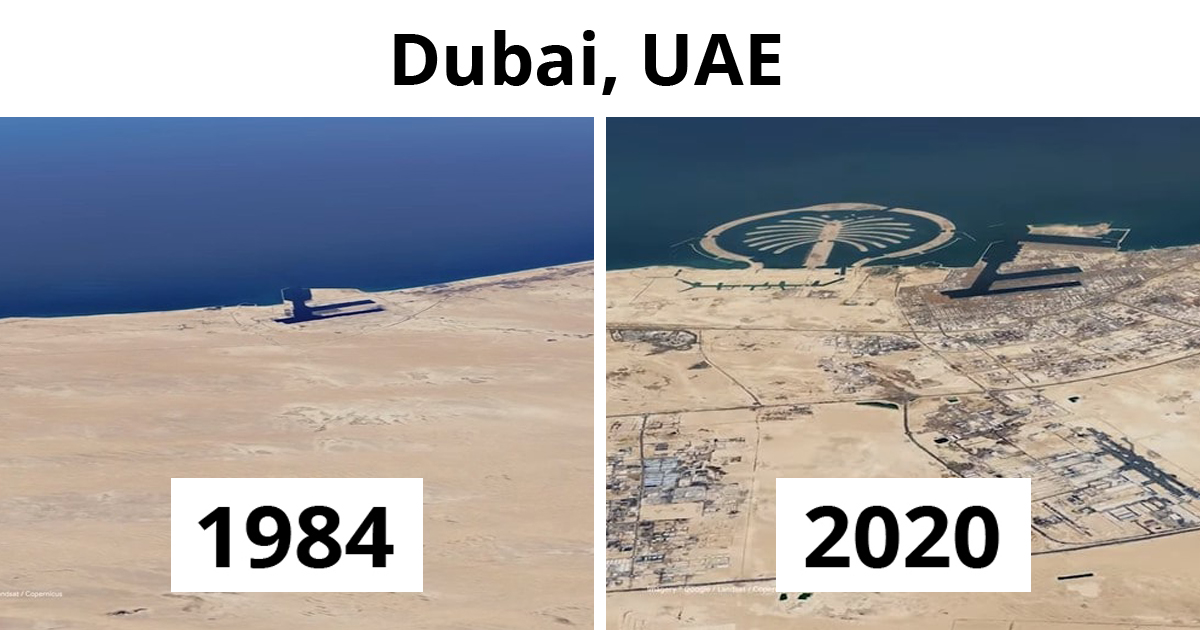 Google Earth Releases Satellite Pics That Show The Impact Humans Have Made To The World