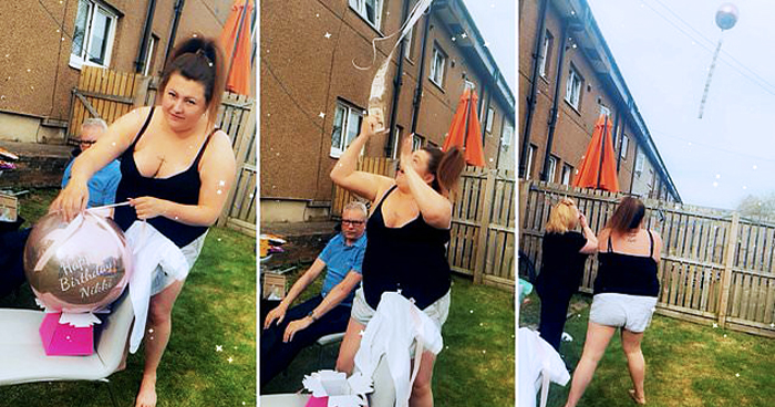 Woman's Birthday Gift Of £100 Tied To A Helium Balloon Floats Away With It