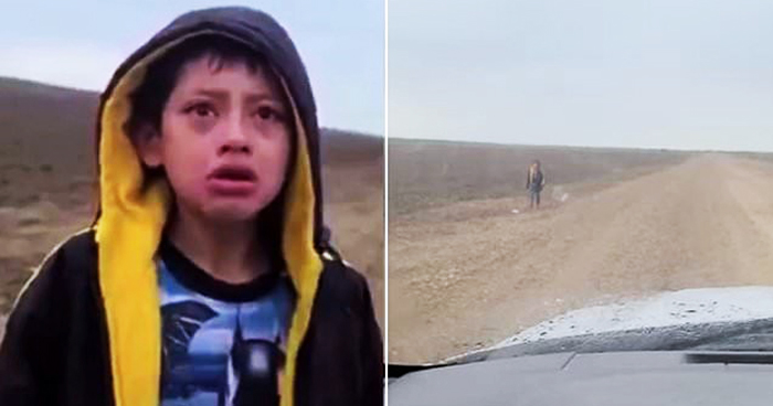 Crying Lost Migrant Boy Approaches U.S. Border Patrol Guard To Ask For Help