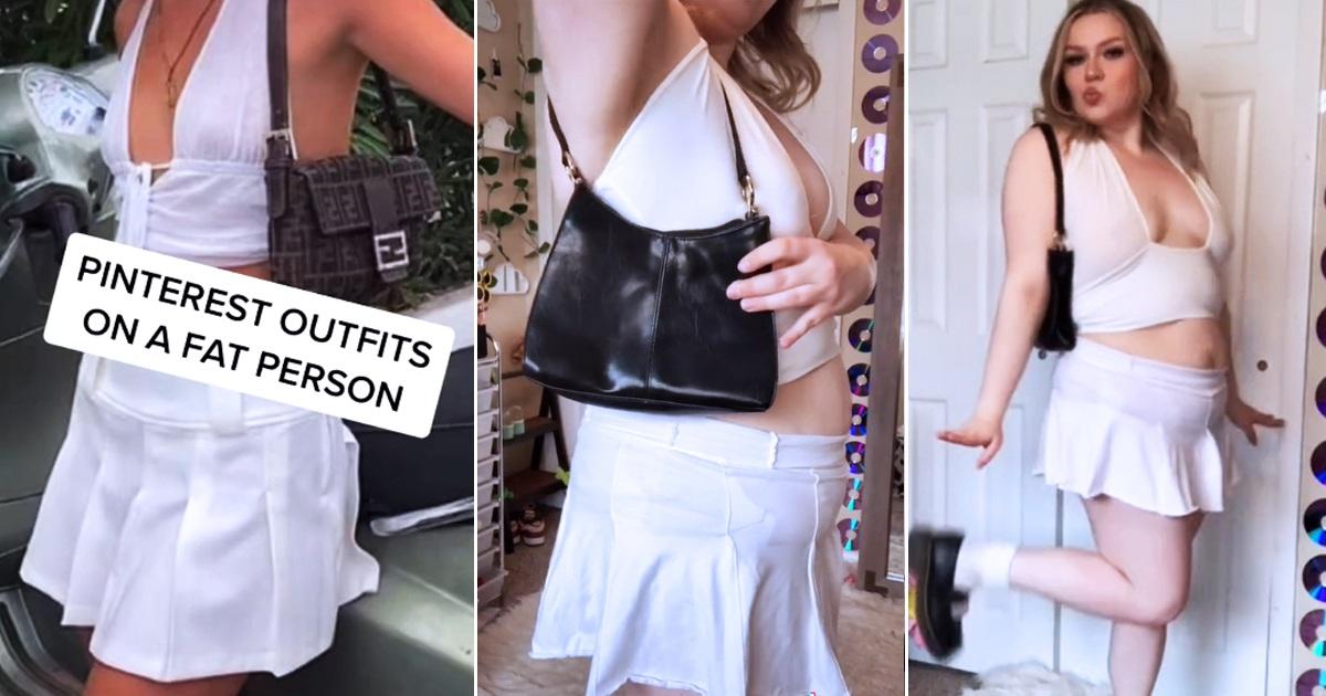 Woman Recreates Pinterest Fashion To Highlight The Double Standard