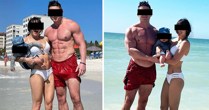 Bodybuilder Dad Slammed For Bragging That His Eight-Month-Old Baby Son is 'Lean'