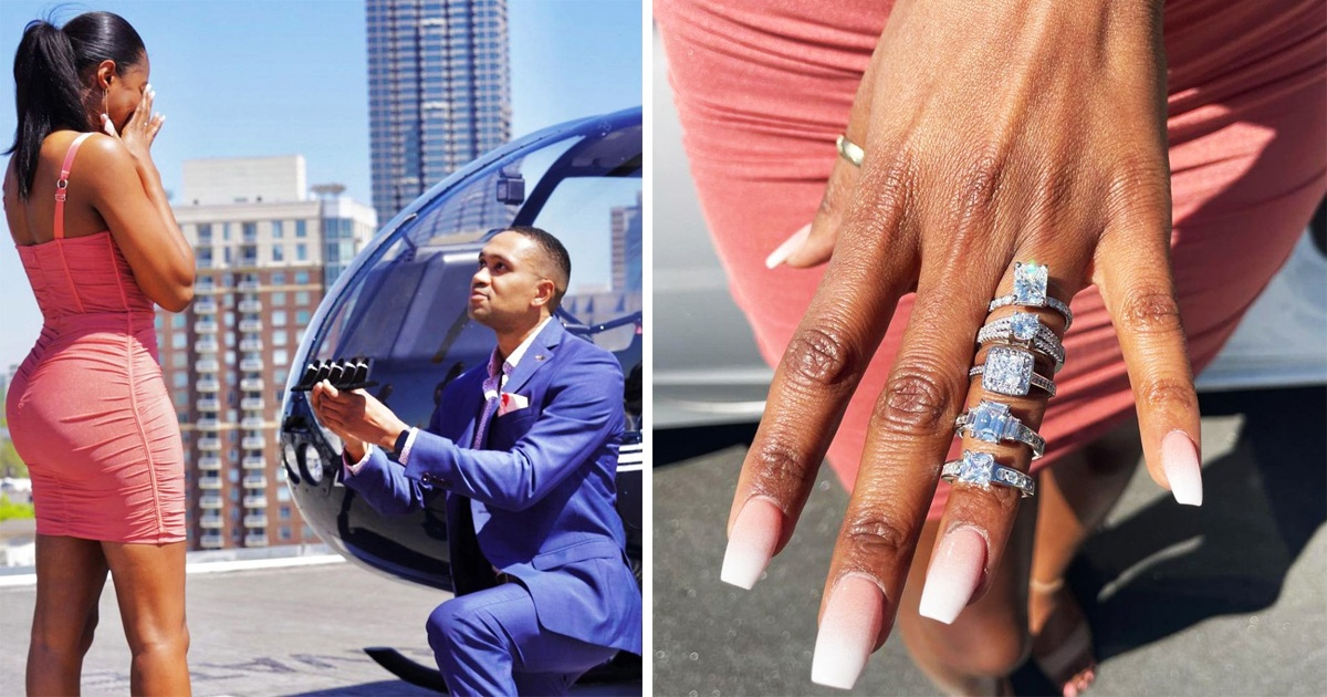 Man Proposes To Girlfriend With Five Different Rings And Let Her Choose The Best