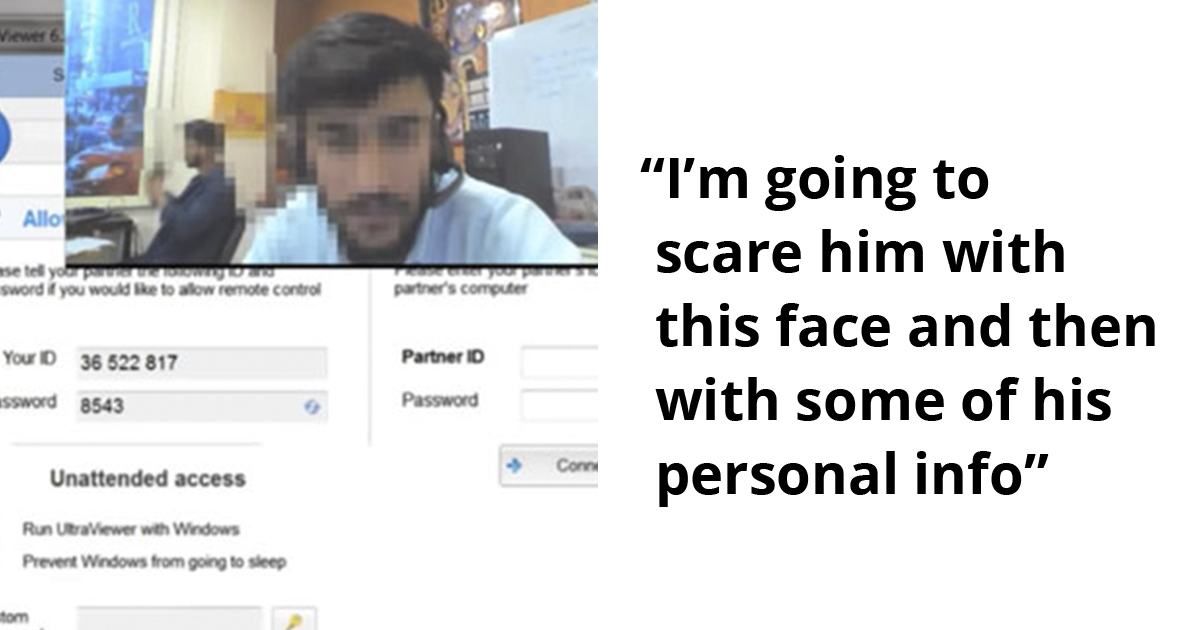Guy Hacks Into Scammer's Webcam And Shows Him His Face In A Viral Video With Over 15 Million Views
