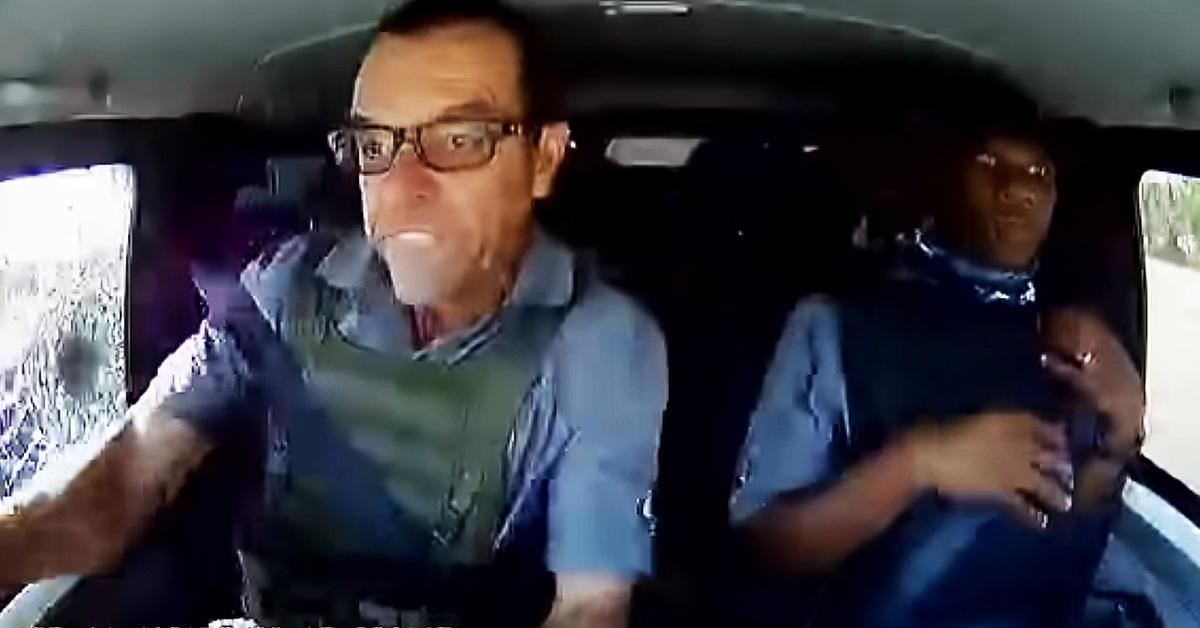 Dashcam Shows Cash Van Crew Under CIT Robbery Attacks