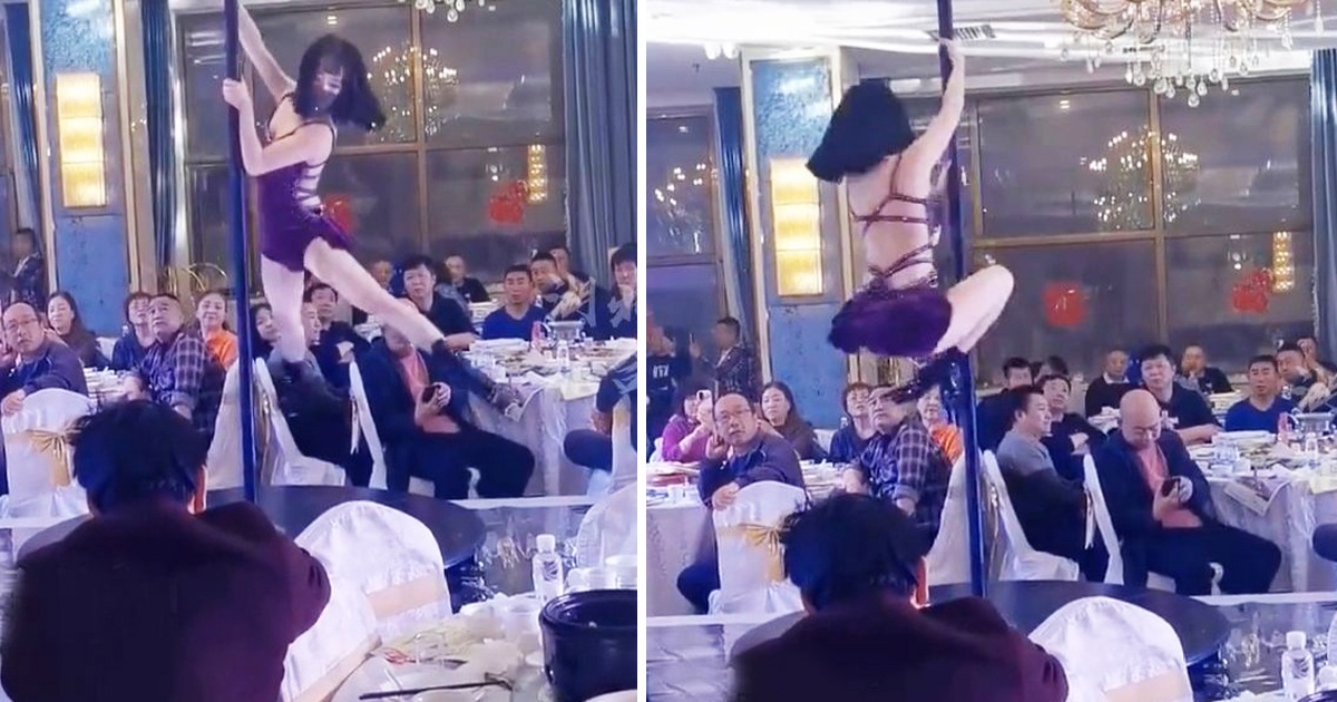 'Hot' Pole Dance Performance Left Guests Stunned At A Chinese Wedding