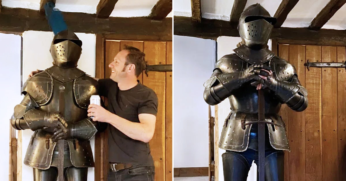 Wife Appalled After Husband Bought $690 Suit Of Armor On eBay After Downing A Few Beers