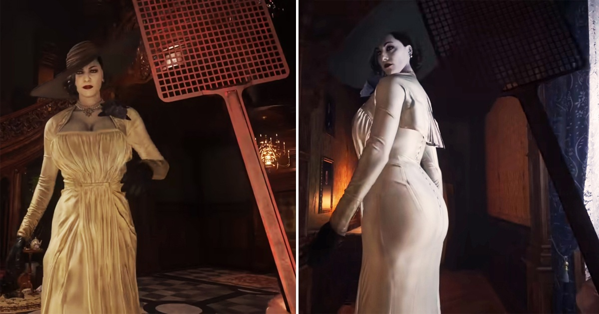 'Resident Evil Village' Players Hilariously Spanking Lady Dimitrescu With A Swatter