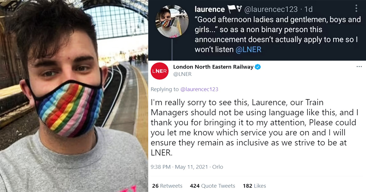 Train Company Forced To Apologise For Operator Saying 'Good Afternoon, Ladies & Gentleman'