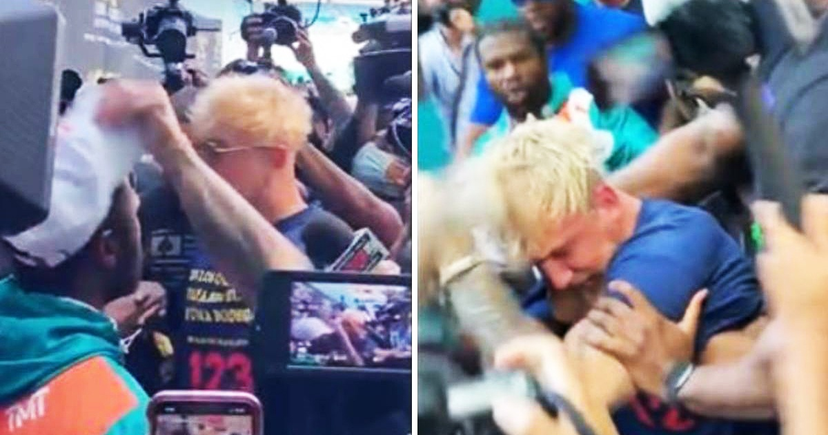 Jake Paul Ended Up With 'Black Eyed' And 'Busted Tooth' After Stealing Floyd's Hat