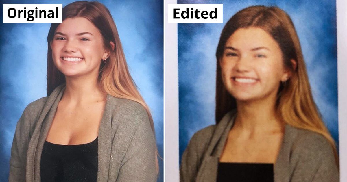 High School Photoshopped All Traces Of Cleavage In The Yearbook Photos Of Girls, And It Sparks Outrage