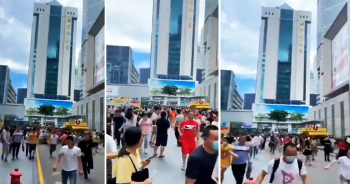 980ft Skyscraper In China Mysteriously Started To Shake Despite No Earthquake