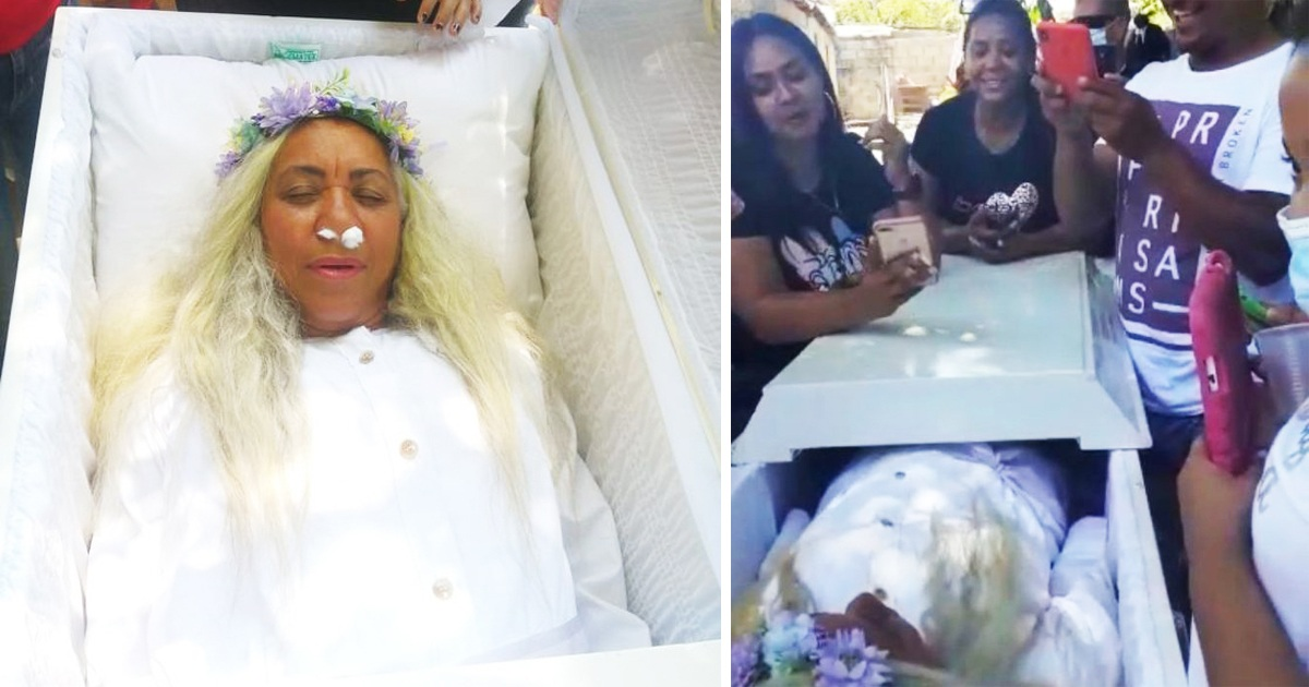 Woman Organises Her Own Funeral And Forces Friends To 'Mourn' Her As She Lies In Coffin For Hours