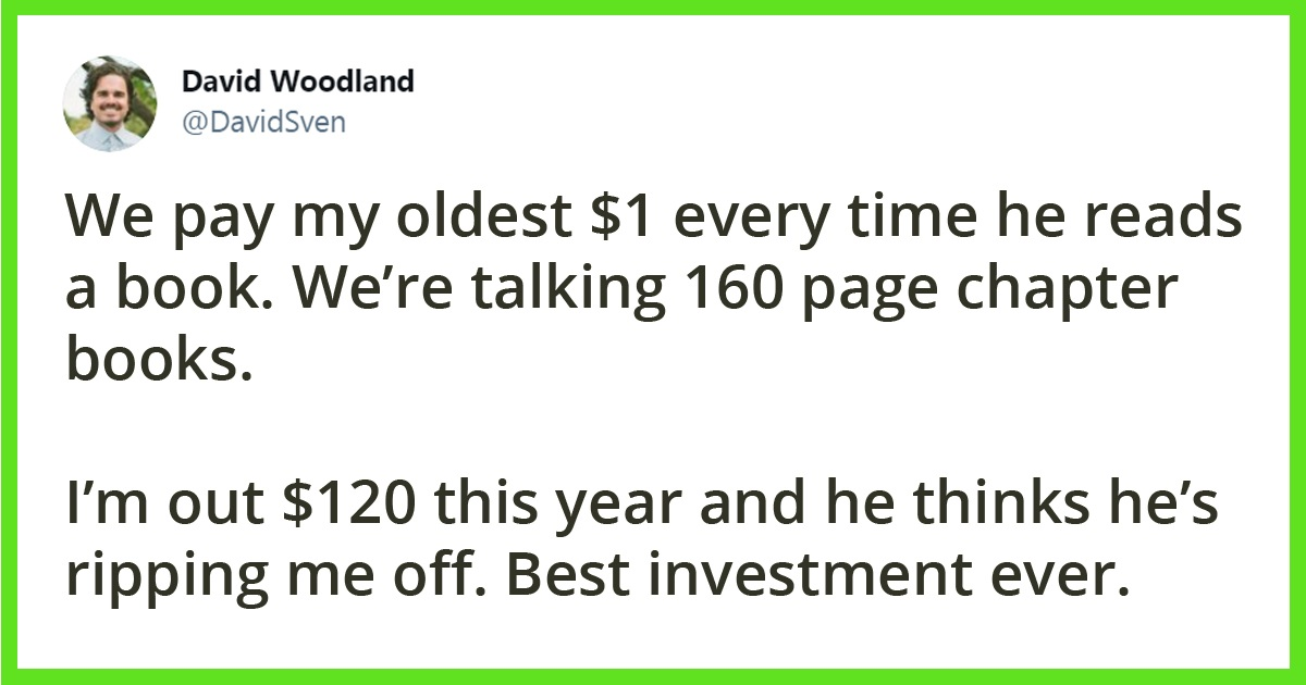 Dad Pays Son For Reading Books And The Internet Debated About It
