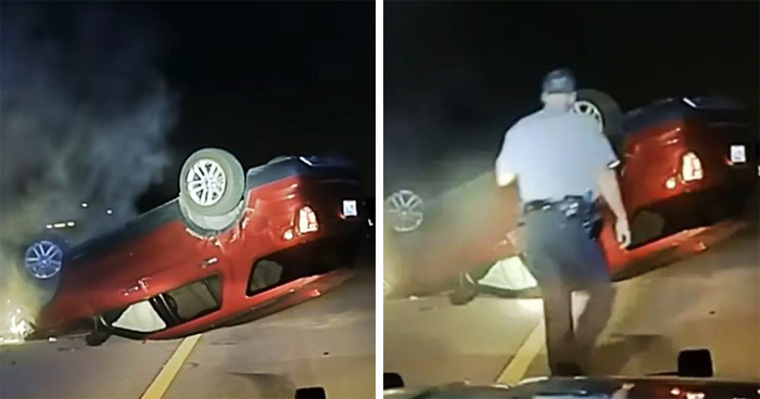 Police Flipped This Pregnant Woman's Car Because She Didn't Pull Over Fast Enough