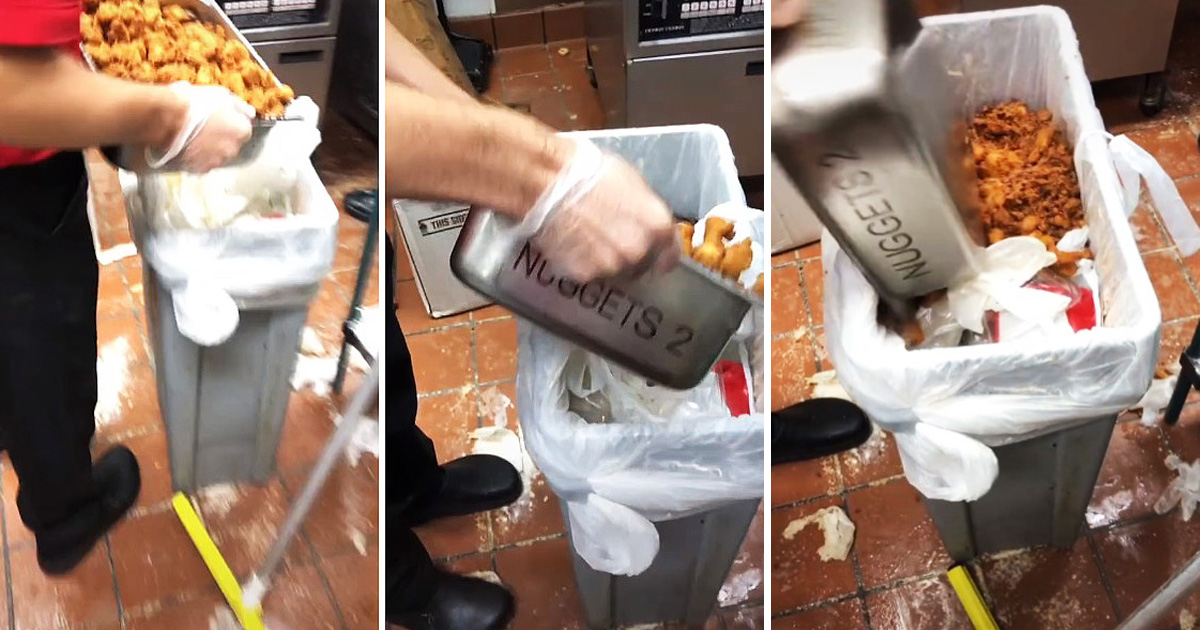 Chick-Fil-A Employee Sparks Outrage After Throwing Chicken Nuggets In Trash