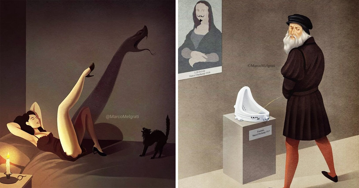 Artist's 30 Illustrations Show What's Wrong With Today Society