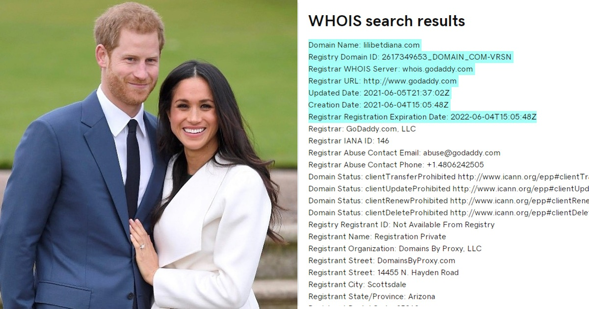 'Lilibetdiana.com' Domain Mysteriously Bought On The Day Harry And Meghan's Daughter Was Born