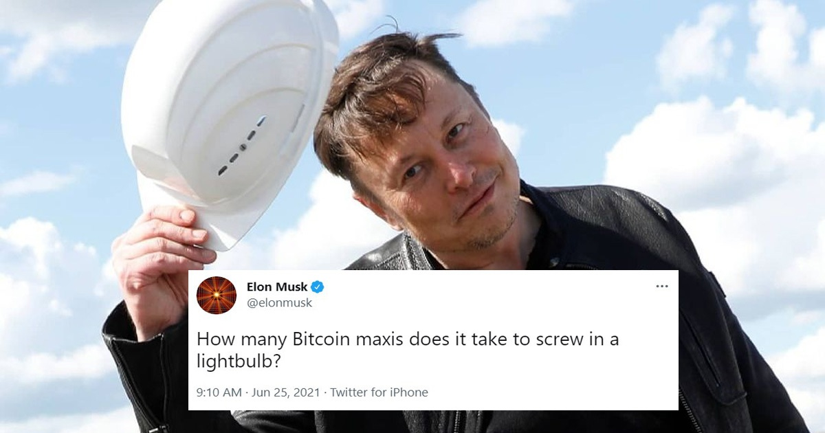 Elon Musk Asks How Many Bitcoins Maxis Needed To Screw A Lightbulb, And People Responded