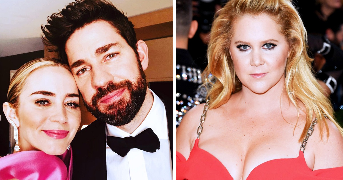 John Krasinki Replied After Amy Schumer Joked He And Emily Blunt Have A 'Pretend Marriage For Publicity'