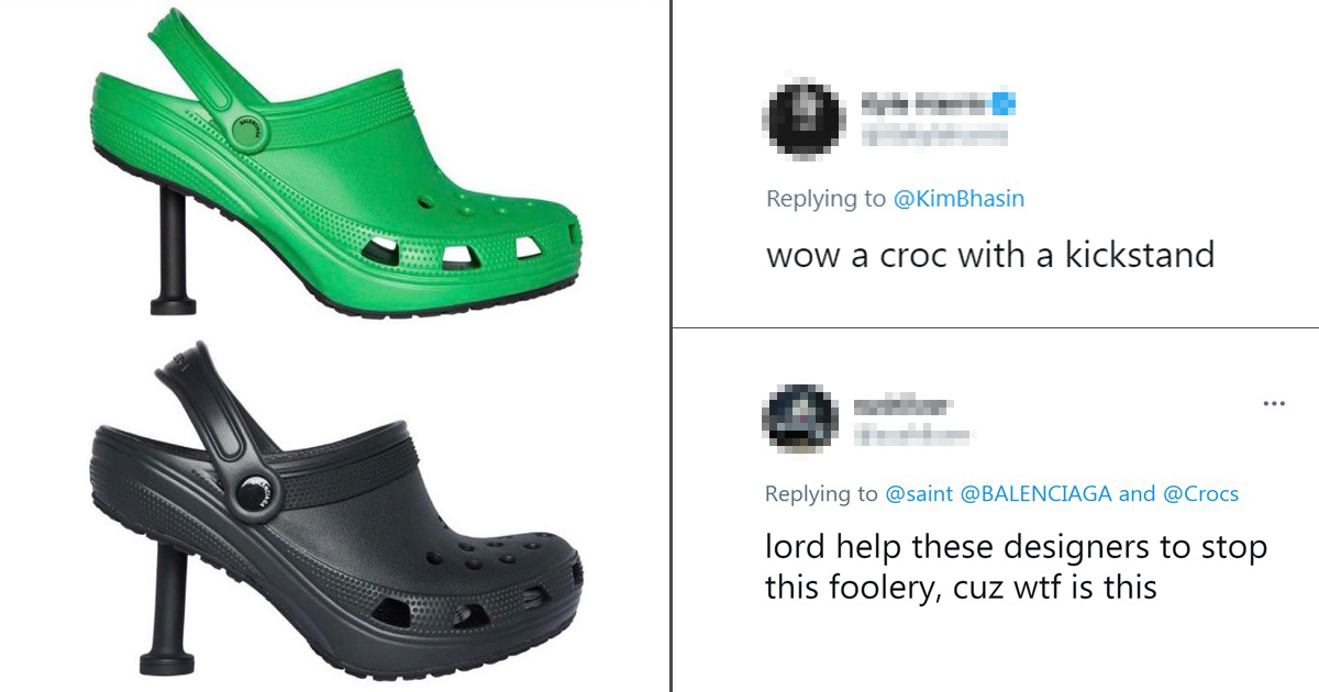 People Left Confused By The Balenciaga And Crocs Heel Collaboration