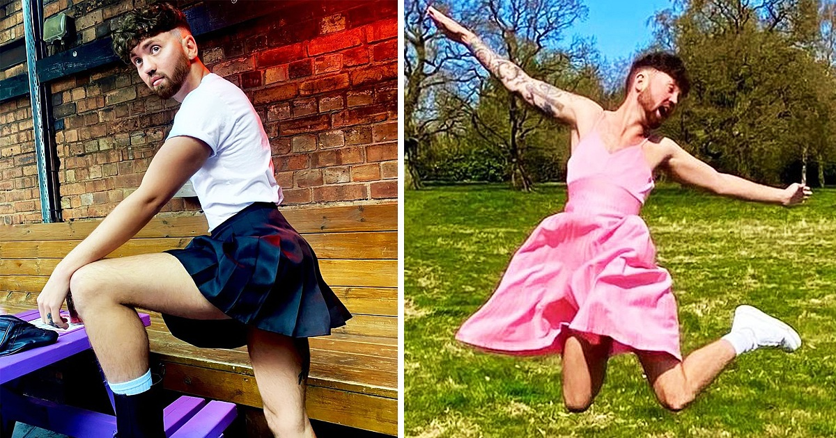 Guy Who Loves Wearing Skirts & Dresses Says He Don't Care If People Think It Isn't For Him