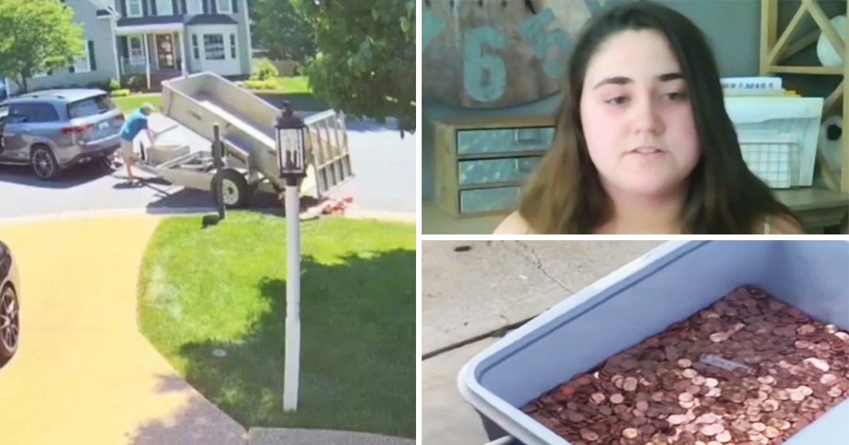 Dad Dumps 80,000 Pennies On Ex-Wife's Lawn As Final Child Support Payment For Daughter