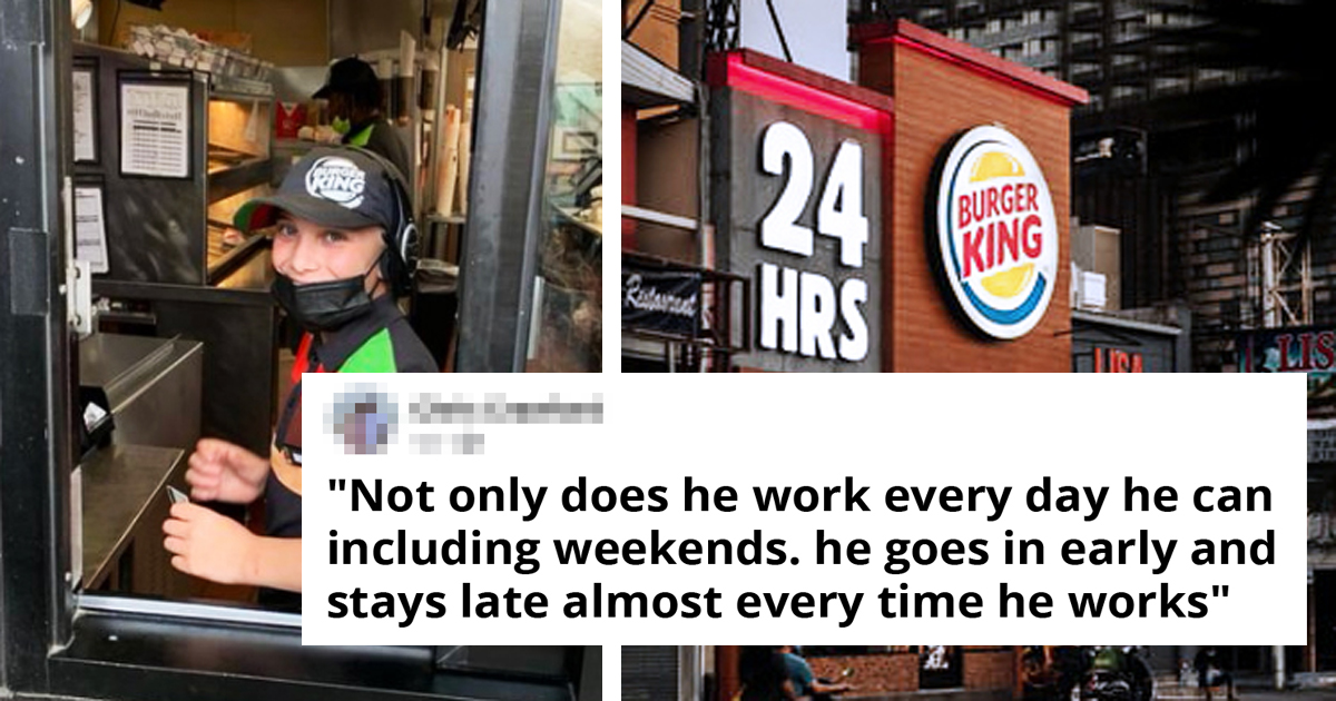 Dad Praises His Son, 14, Working At Burger King And It Sparks Debate Online