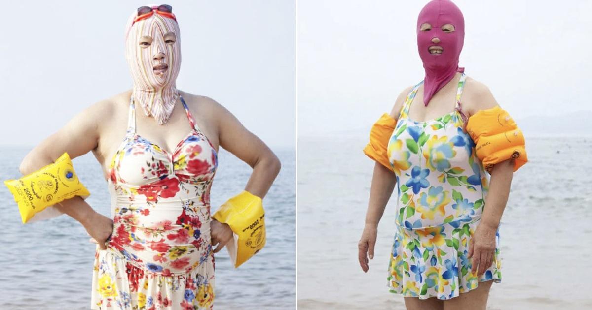 Women In China Wear Facekini To Avoid Getting Tan
