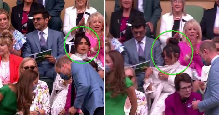 Meghan's Friend Priyanka Chopra 'Ignores' Prince William And Kate At Wimbledon