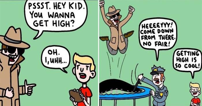 25 Dark Humor Stories From 'Deliberately Buried Comics'