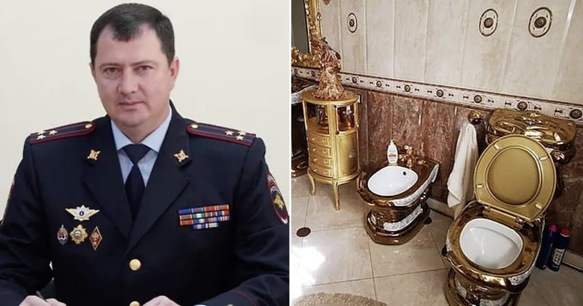 Russian Police Chief Who Owned A Pure Gold Toilet At Home, Got Fired For Corruption