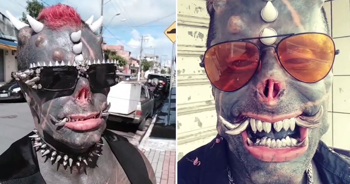 Brazilian 'Human Satan' Shows What He Looked Like Before Body Modifications