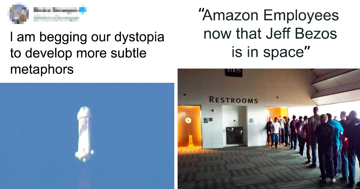 Jeff Bezos' Space Launch Turned Into A Joke Online, Here Are 30 Hilarious Jokes And Memes