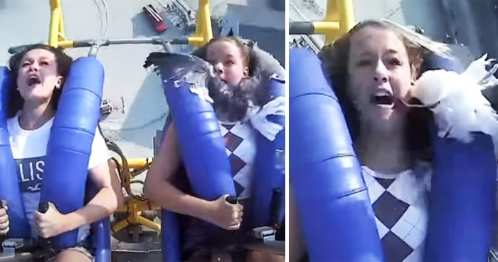 Seagull Smacked Into A Screaming Teen's Face During A 75mph Slingshot Ride