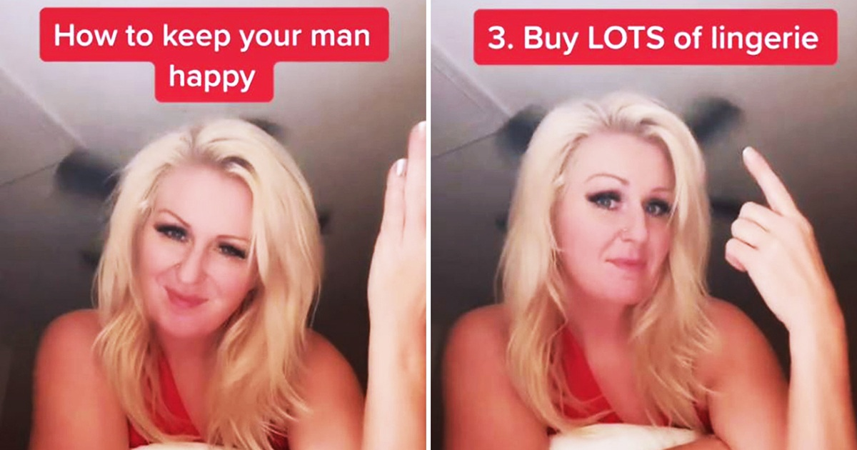 Woman Divides Opinion After Telling Women To Buy Lots Of Lingerie And Give Their Man Space