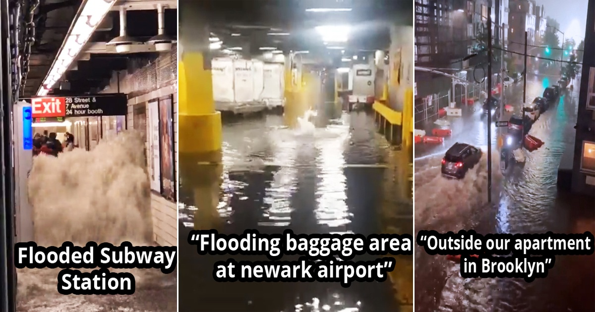 20 People Share Astonishing Pics And Videos Of The Flooding In New York City
