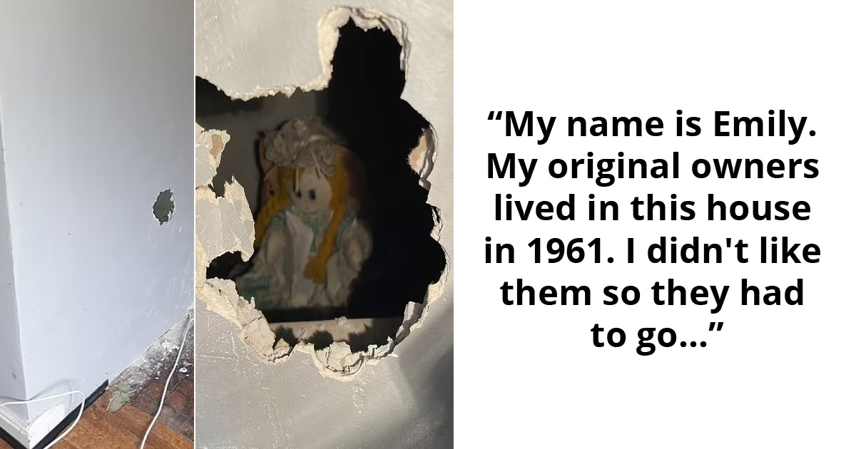 Homeowner Left Shocked To Discover A Rag Doll Holding A Scary Note Inside A Wall Of His New Home