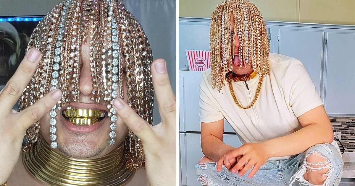Rapper Surgically Implanted Gold Chains Into His Head As Hair And Becomes 'First' To Have It
