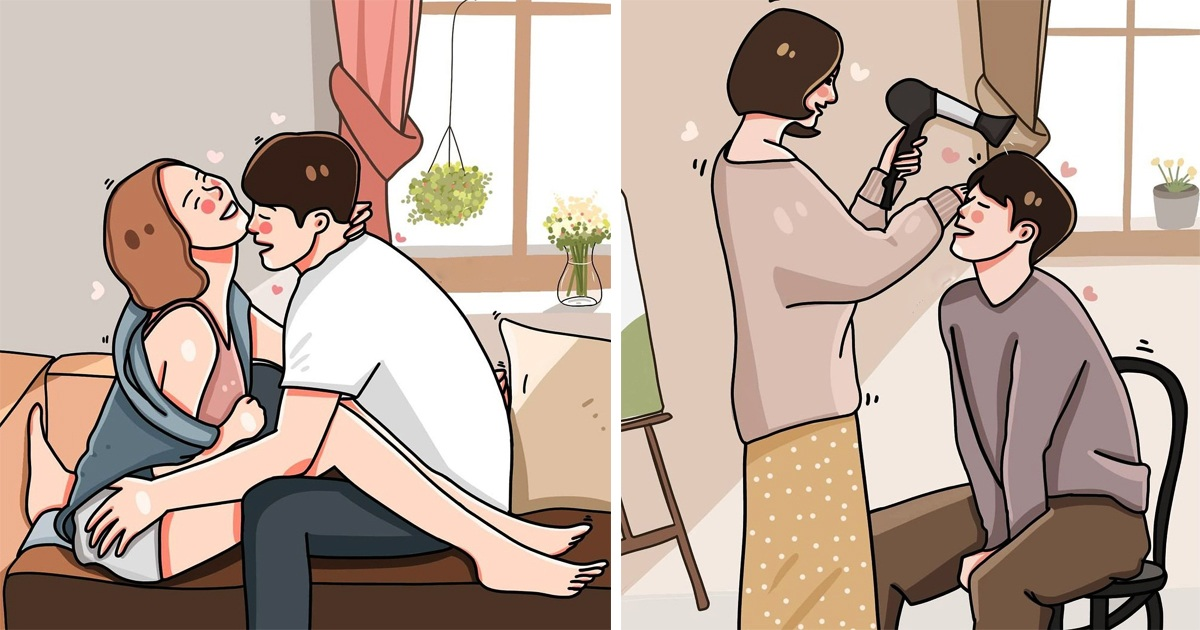 Thai Artist Draws Her Love Life With Boyfriend That Everyone Wants To Live