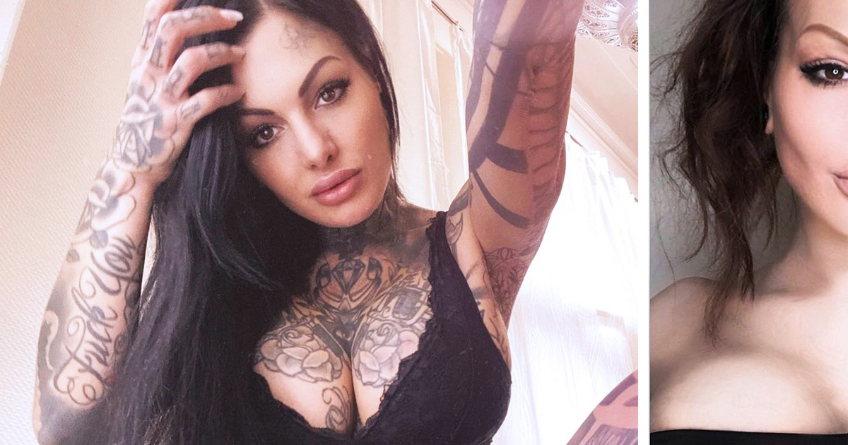 7 Tattoo Models Show How Different They Looked Before They Got Inked