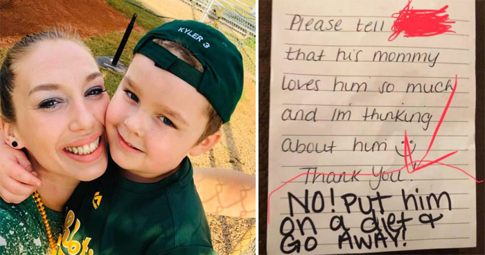 Daycare Worker Fired After Leaving A Nasty Message For Mom In Boy's Lunchbox